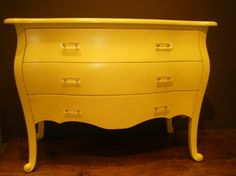 I want a bright dresser. Either yellow, or apple green, or red!