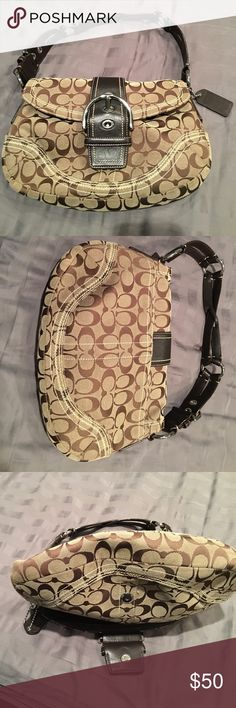 Authentic coach shoulder bag Authentic coach shoulder bag brown used a few times no stains or holes in excellent condition Coach Bags Shoulder Bags