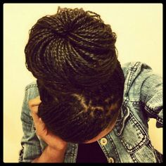 mini twists on natural hair Natural Hair Twists, Natural Hair Care, Natural Hair Styles, Natural Updo, Au Natural, Hair Twist Styles, Curly Hair Styles, Braid Styles, Twist Braid Hairstyles