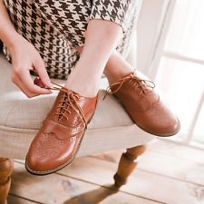 New Vintage Womens Wingtip Brogues ... #oxfordwomens Oxford Shoes Heels, Pump Shoes, Brogues, College Girls, Lace Up, Fashion Shoes, Clothing, Accessories, Outfit