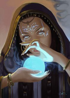 Probably a better representation of what Achlys is wearing now... Sorceresses Magic by *LeoNeal