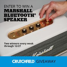 Enter to win 1 of 8 Marshall speakers Crutchfield is giving away