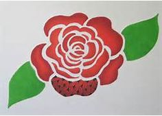 Easy Rose Stencil It wasn't easy figuring out