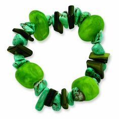 Green Stretch Scarf Holder, perfect for St Patrick's Day