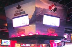 MCHH - Jumbotron Wrap - Total graphical retro-fit of Melrose Cafe & Bar into the Molson Canadian Hockey House #Jumbotron #jumbotronwrap #graphic