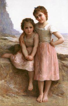 William Adolphe Bouguereau, Vintage Illustration, Munier, Portraits, Fine Art, Beautiful Paintings, Contemporary Paintings, Oeuvre D'art, Art History