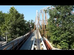 Powder Keg Roller Coaster Front Seat POV Silver Dollar City - YouTube