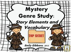 Mystery Genre: Story Elements and Vocabulary Strategies Mini-Unit Mystery Genre, Mystery Stories, Mystery Books, 4th Grade Ela, 4th Grade Reading, Vocabulary Strategies, Vocabulary Cards, Genre Study, Word Study
