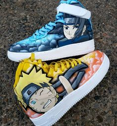 Behind The Scenes By ianjpaintedit All Nike Shoes, Hype Shoes, Sneakers Nike, Anime Inspired Outfits, Anime Outfits, Custom Painted Shoes, Custom Shoes, Filles Image Seniors, Harry Potter Shoes
