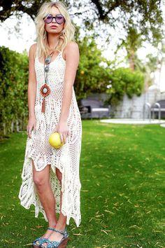 HÄKELN Sie Mode-TRENDS - exklusive weiße häkeln-Sommerkleid - kundenspezifisch konfektioniert