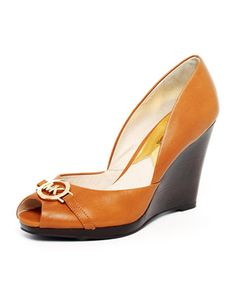 MICHAEL Michael Kors  Rochelle Leather Wedge...nice for work