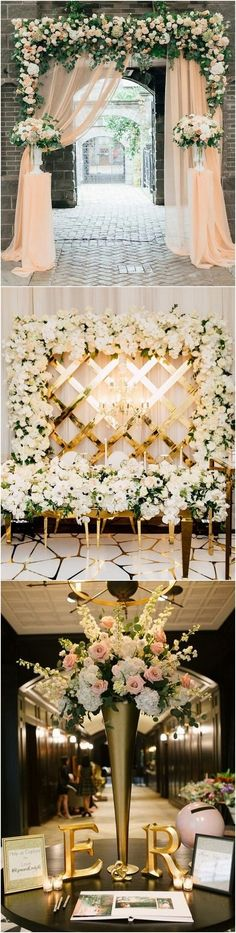 Top 20 Wedding Entrance Decoration Ideas for Your Reception elegant wedding reception entrance decor Wedding Ceremony Ideas, Wedding Reception Entrance, Wedding Stage, Wedding Tips, Wedding Entrance Decoration, Wedding Planning, Backdrop Wedding, Wedding Receptions, Wedding Blog