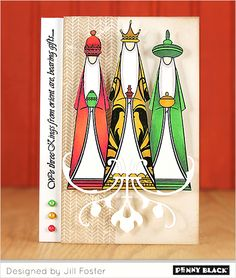 Penny Black - Slapsticks - Cling Stamp - We Three Kings Religious Christmas Cards, Christmas Cards To Make, Holiday Cards, Christmas Gifts, 3 Reyes, We Three Kings, Penny Black Cards, Three Wise Men, Artist Trading Cards