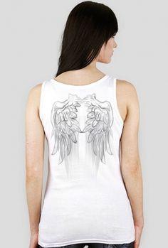 Koszulka Damska Bokserka- Skrzydła -Wings