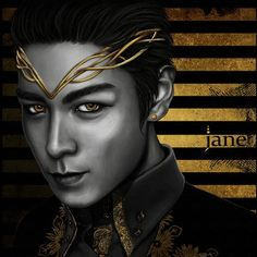 T.O.P. GOLD SERIES. #JaneSallvadore #Art #artist #예술가 #digital_art #illustrations #digital_painting #그림 #gold #cs6 #kpopart #BIGBANGART #BIGBANG #빅뱅 #MADE #VIP #madewithlove  #TOP #choi_seung_hyun  @choi_seung_hyun_tttop