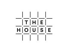 Logo for The House, a coworking office space in Hovås, Gothenburg. Typography Logo, Logo Branding, Branding Design, Gothenburg, Design System, Home Logo, Monogram Logo, New Fonts, Book Making