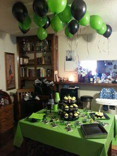 Halo xbox theme - Xbox Games - Trending Xbox Games for sales - Halo xbox theme Xbox Party, Game Truck Party, Party Games, Halo Birthday Parties, Teen Birthday, Birthday Party Decorations, Birthday Ideas, Halo Party, Army Party