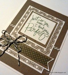 Mary Gunn FUNN - Monotone slate gray friendship card with Close To My Heart's Basic Paper Fundamentals.