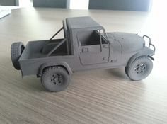 Jeep CJ8 Scrambler 3d printed Miniatures Vehicles #Shapeways #ILikeTokek