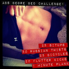 Take the ABS BEFORE BED challenge!