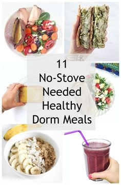 Healthy Liv 11 Simple Dorm Room Meals No Kitchen Needed Healthy Liv College Dorm Food, Healthy College Meals, Dorm Room Food, College Cooking, Healthy Snacks, College Recipes, Diet Snacks, Clean Eating College, Healthy Dorm Eating