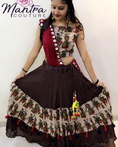 Image may contain: 1 person Half Saree Designs, Choli Designs, Lehenga Designs, Blouse Designs, Garba Dress, Navratri Dress, Choli Dress, Navratri Garba, Chaniya Choli Designer