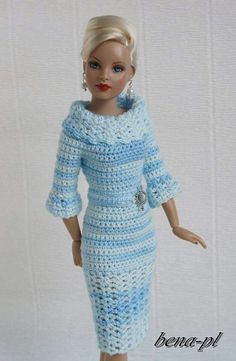Crochet dress doll
