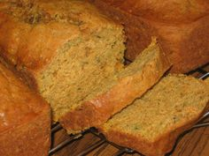 Pumpkin Zucchini Bread. Just made this and it was really good! Used greek yogurt instead of sour cream.