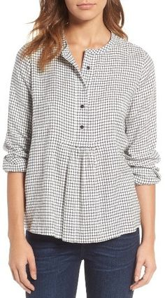 WOMEN'S MADEWELL MARKET POPOVER SHIRT   Madewell, fashion, clothing, clothes, style, women