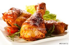 http://www.dollarphotoclub.com/stock-photo/Grilled chicken legs and vegetables on white background/60196172 Dollar Photo Club millions of stock images for $1 each