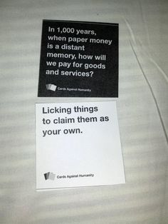 Cards Against Humanity, game for irreverent people. Playing this game at wedding