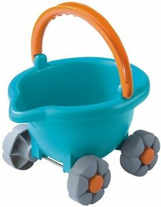 Haba Baudino Sand Bucket Scooter by Haba. $17.99. Haba Baudino Sand Bucket ScooterWhoosh. On its four wheels, the bucket zips across the meadow looking for the next sand box. It includes a bucket cart, sieve, sand car mold and sand trowel. It is made of heavy-duty ABS plastic.Product Dimensions (inches): 8.11 (L) x 7.87 (W) x 8.78 (H)Age: 1 year and up