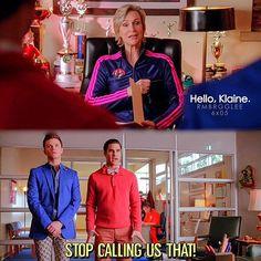 """#Glee 6x05 """"The Hurt Locker, Part two"""" - Sue, Kurt and Blaine"""
