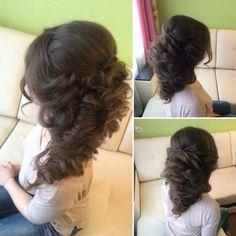 Прическа для невесты. Греческая коса. Свадебный образ невесты