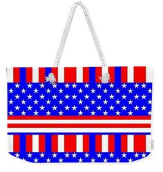 Usa Weekender Tote Bag featuring the painting Design 999. by Otis Porritt