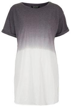 dip dye tee grey white oversize