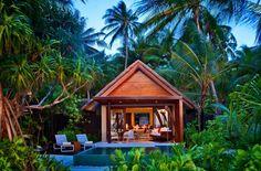 Niyama, beach studios with a private pool in the Maldives. #glamping http://niyama.peraquum.com