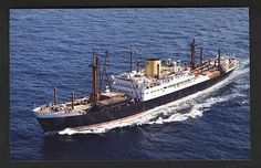 MV Eboe, Elder Dempster Line, compare with the oil painting by john Stobart of this ship.