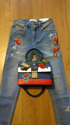 Jean Fashion brodé taille 38 neuf