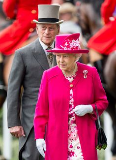 Queen Elizabeth II and Prince Philip, Duke of Edinburgh on day 1 of Royal Ascot at Ascot Racecourse on June 16, 2015 in Ascot, England.