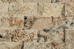 "Cabot Mosaic Tile - Travertine Series Tuscany Scabas Split Face / 2""x4"""