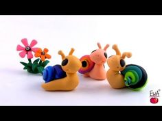 LET'S CLAY! Very easy SNAIL - tutorial polymer clay