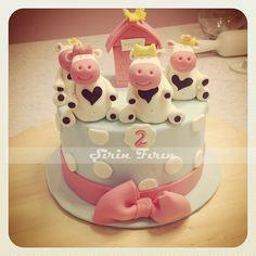 caw cake, birthday cake, doğum günü pastası, kız çocuk pastası, butik pasta, iki yaş pastası