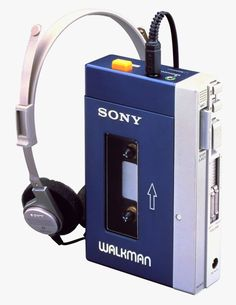 From the 80's:  Sony Walkman.  Before Ipods and earbuds, we had the Walkman and earphones.