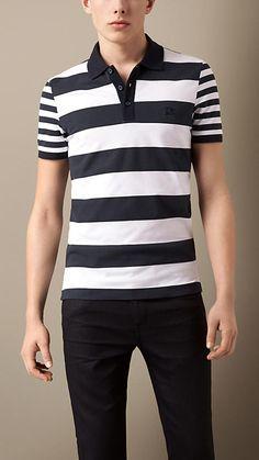 Contrast Stripe Polo Shirt | Burberry