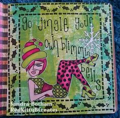 Sandra Botham/Red Kitty B Creates  Inspiration for the Dylusions July Facebook Challenge.