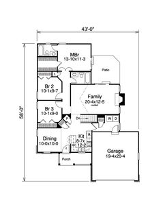 Ranch house plan 54459 ranch house plans master for House plan search engine