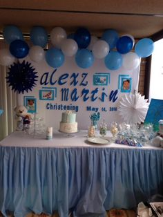 Beautiful Backdrop For A Boy Baby Shower For All Of The
