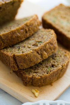 Gluten-Free Zucchini Bread! (Worked perfectly with 1 cup raw buckwheat flour and 3/4 cup Garnec all purpose mix.)