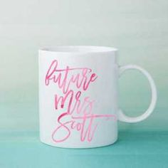 Personalized Mug for the Bride-to-Be Cool Gifts, Unique Gifts, Sentimental Gifts, Personalized Mugs, Engagement Gifts, Newlyweds, Gift Ideas, Bride, Tableware